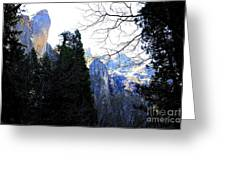 Mountains of Yosemite . 7D6213 Greeting Card by Wingsdomain Art and Photography