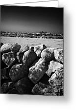 Mourne Granite Irish Dry Stone Wall Ireland Greeting Card by Joe Fox