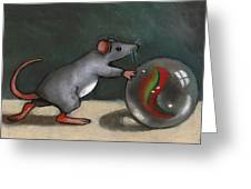 Mouse Rolling Marble Greeting Card by Joyce Geleynse