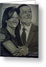 Mr. And Mrs. Obama Greeting Card by Handy