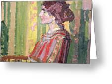 Mrs Robert Bevan Greeting Card by Harold Gilman
