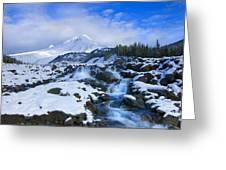 Mt. Hood Morning Greeting Card by Mike  Dawson