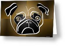 Mug Of A Pug Greeting Card by Stephen Younts