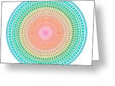 Multicolor Circle Greeting Card by Atiketta Sangasaeng