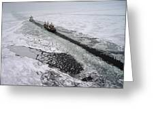 Multinational Fleet Of Icebreakers Greeting Card by Cotton Coulson