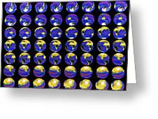 Multiple Satellite Images Of The Earth's Biosphere Greeting Card by Dr Gene Feldman, Nasa Gsfc