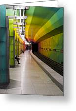 Munich Subway No.2 Greeting Card by Wyn Blight-Clark
