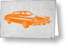 Muscle Car Greeting Card by Naxart Studio
