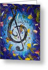 Musical Party Greeting Card by Paul Bartoszek