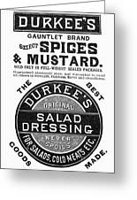 Mustard Ad, 1889 Greeting Card by Granger