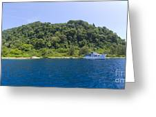 Mv Spirit Of Solomons Moored In Front Greeting Card by Steve Jones