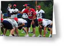 Mvp Tom Brady  Greeting Card by Mike Martin