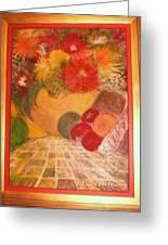 My Abundance Painting Framed Greeting Card by Anne-Elizabeth Whiteway