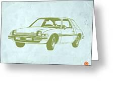 My Favorite Car Greeting Card by Naxart Studio