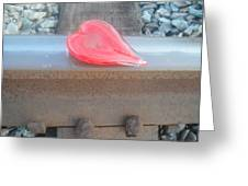 My Hearts On The Right Track Greeting Card by WaLdEmAr BoRrErO