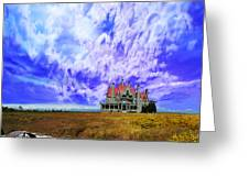 My House On A Hill Greeting Card by Jeff Burgess