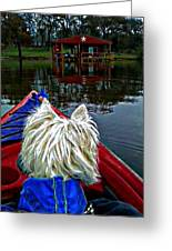My Kayaker Buddie Greeting Card by Carrie OBrien Sibley