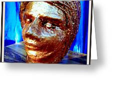 MY MODEL FACE Greeting Card by Anand Swaroop Manchiraju
