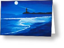 Mystic Shore Greeting Card by Linda Bennett