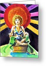 Mystic Vamp Greeting Card by Mel Thompson