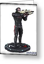 N7 Soldier V1 Greeting Card by Frederico Borges