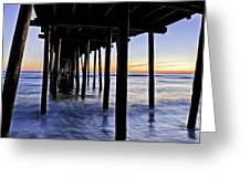 Nags Head Pier - A Different View Greeting Card by Rob Travis