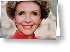 Nancy Reagan, 40th First Lady Greeting Card by Photo Researchers