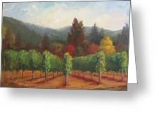 Napa Valley Vineyards Harvest Time By Deirdre Shibano Greeting Card by Deirdre Shibano
