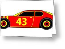 Nascar Winner Virtual Car Greeting Card by Asbjorn Lonvig