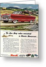 Nash Ambassador 1953 Greeting Card by Nomad Art And  Design