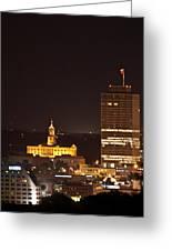 Nashville Cityscape 5 Greeting Card by Douglas Barnett