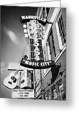 nashville crossroads music city ernest tubbs record shop on broadway downtown Nashville Tennessee US Greeting Card by Joe Fox