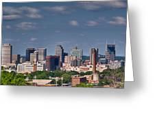 Nashville Skyline 1 Greeting Card by Douglas Barnett