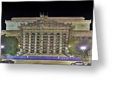 National Archives Building Renovation Greeting Card by Metro DC Photography
