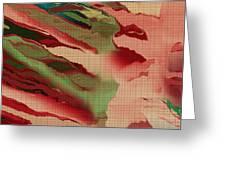 Native Abstract Weave Greeting Card by Deborah Benoit