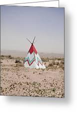 Native American Tipi Replica Greeting Card by Paul Edmondson