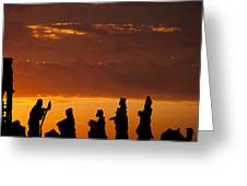 Nativity Sunrise Greeting Card by Andrew Soundarajan