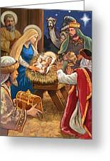 Nativity Greeting Card by Valerian Ruppert