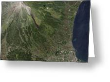 Natural-color Image Of The Mayon Greeting Card by Stocktrek Images