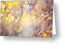 Natural Watercolor Of Autumn Greeting Card by Jenny Rainbow
