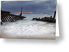 Nautical Skeleton Greeting Card by Mike  Dawson