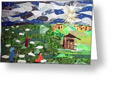 'neath The Brightest Star Greeting Card by Charlene White