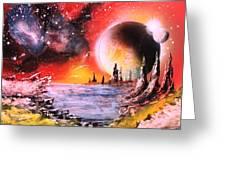Nebula Storm Greeting Card by Tony Vegas