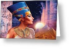 Nefertiti Variant 5 Greeting Card by Andrew Farley