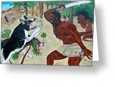 Neg Mawon Haiti 1791 Greeting Card by Nicole Jean-Louis