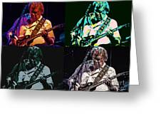 Neil Young Pop Greeting Card by Tommy Anderson