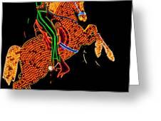 Neon Cowboy Las Vegas Greeting Card by Garry Gay