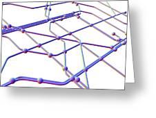 Network Diagram Greeting Card by Pasieka