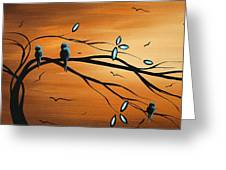 New Bloom By Madart Greeting Card by Megan Duncanson
