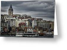 New District Skyline Greeting Card by Joan Carroll